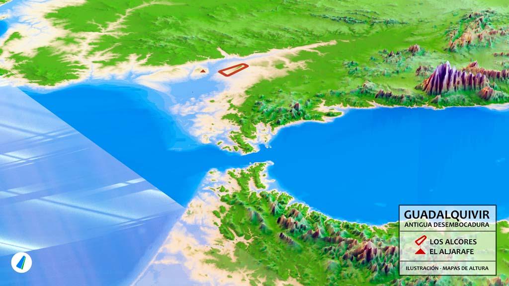 Marismas Del Guadalquivir Mapa.Geologia Los Alcores